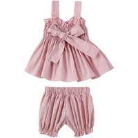 Wholesale 100% cotton baby clothes top sleeveless shirts with tunic shorts two pieces kids clothing sets