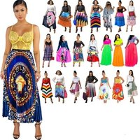 Trending Women Clothing Cheap Pleated Skirts African Printed Maxi Skirt