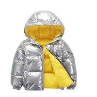ready to ship baby boys Winter silver heavy warm jacket