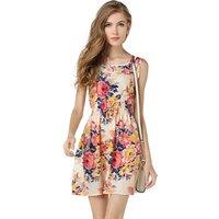 Casual Summer Chiffon Dress Women Clothes 2019 Sexy Floral Short Beach Dresses