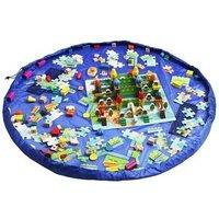Toy Storage Bag Portable Waterproof Kids Lego Storage Drawstring Organizer 150CM 60Inch Kids Play Mat(Blue)