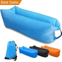 New trending product Nylon Sleeping Bed Bag Air Sofa Outdoor factory lazy bag Inflatable air bed Lounger Sofa