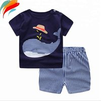 Summer Baby Clothes outfits 2 pcs pure cotton kids clothing sets