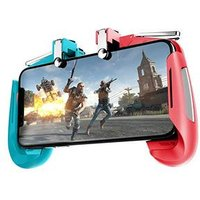 AK16 Six Finger All-in-One Mobile Game Controller Free Fire Key Button Joystick Gamepad L1 R1 Trigger for PUBG
