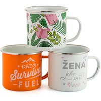 'Bright Colors And Classic Look  Tea Coffee Mug Set, Enamel Drinking Mugs Cups For Home Use/office/party Or Camping