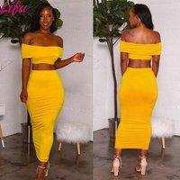 Lifu Womens Knitted Dress Off Shoulder Casual Dresses Ladies Short Two Piece Set Women Dress