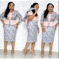 Two Piece Set Women Dresses Casual Plus Size 4XL Sexy Slim Office Pencil Bodycon Work Dress Female Party Y11948