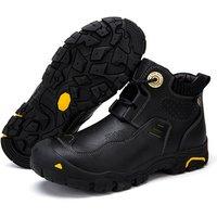 men leather boots hiking shoes trekking outdoor waterproof hiking boots hunting fishing sport camping climbing mountain shoes