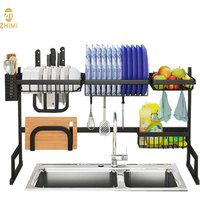Hot Sale 201Stainless Steel Kitchen Dish Drainer Storage Holder Rack Shelf Standing Type Over Sink Dish Drying Rack