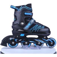 CE Certification Popular super PU flashing wheels 4 size yard waterproof  adjustable inline roller  skates