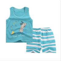 infant baby clothing suits 2pcs T-shirt vest and short pants