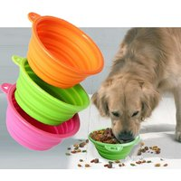'Silicone Collapsible Pet Dog Food Bowl