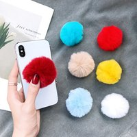 2019 New Arrivals POPS Phone Socket Pops Up Socket Mobile Stand Phone Holder in Shaggy Design for Winter