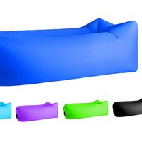 'Air Sleeping Bag Lazy Chair Lounge Beach Sofa Bed Inflatable Camping Lounger