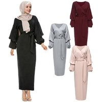 Abayas Islamic Clothing Women Long Sleeve Fashion Turkish Hijab Dresses Maxi Muslim Dress Bangladesh Dubai Kaftan Dress