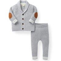 100% cotton newborn Two Pieces Leggings Set V Neck Cardigan Knit kids clothing baby Sweater Pants Set