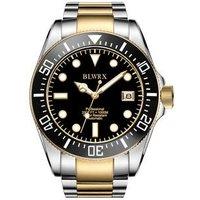 BLWRX 43mm Men Watch, Automatic Analog Professional, Stainless Steel Wrist Band, Premium Ceramic Bezel
