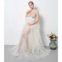 Wholesale Maternity women clothes Pregnant party flapper Dress By Women Sexy Maternity gown photography Dress for Photo Shoot