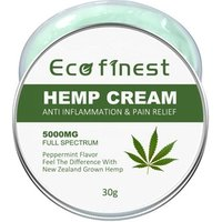 ECO finest Premium Organic Hemp Cream - Pain Relief for Arthritis, Inflammation and Joint Pain - Hemp Extract Oil Cream