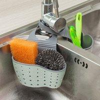 Kitchen Organizer Tools Wheat Fiber Sponge Storage Rack Basket Wash Cloth Or Toilet Soap Shelf Organizer Sponge Drain Holder