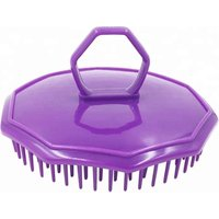 'Finger Hole Shower Head Massage Comb Cleanse Hair Shampoo Scalp Brush