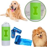 Flash Light Waste Garbage Bags Carrier Holder Dispenser Pet Dog Poop Bag Dispenser