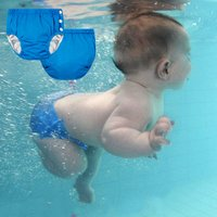 Elastic Waist Solid TPU Waterproof Reusable Soft Baby Swimming Pants Washable Diaper Suit Baby Boy Girl Training Pants