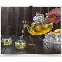 600ml  September China glass ware teapot  with strainer