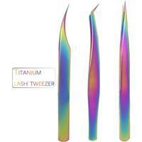 Premium quality 420J2 titanium extension tweezer stainless steel lash tweezers eyelash extention custom tweezer