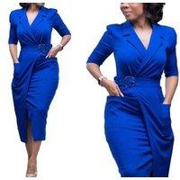 81022-MX100  New Fashion OL Women Ladies Office DressKnee-length Bodycon Slim Pencil Party Dress