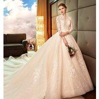2019 newest design elegant backless lace design wedding dress bridal gown