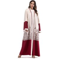 Malaysia kaftan abaya design printed floral kimono ramadan Pakistan loose cardigan muslim hijab dress for Dubai women