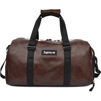 PU material Packable Sports Gym Bag with Wet Pocket and Shoes Compartment Travel Duffel Bag