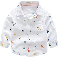New Design Baby Boys Dress Shirts Spring Autumn New Long Sleeve School Blouse Kid Clothes White Shirts for Boys Toddler Clothing