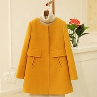 Winter Oversized O-neck Medium-long Wool Coat Women Slim Thickening A-line Trench Jacket