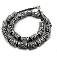 24pcs/Set Original Viking Runes Charms Beads Findings for Bracelets Pendant Necklace for Beard or Hair Vikings Rune Beads Kits