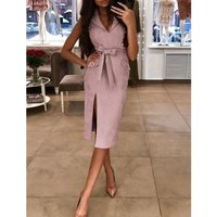 Sexy Women Summer Dress 2019 Casual Sleeveless Bodycon Party Evening Plus Size Dress Robe Femme