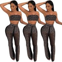 FM-Q139 Two pieces set woman clothing bodycon evening sexy party clubwear ladies jumpsuit