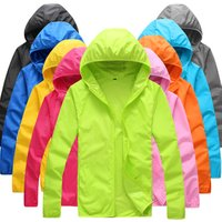 New Foldable Quick Dry Outdoor Camping Jackets Summer Windbreaker Waterproof Windproof Sun-protection Thin Hiking Hoodie Jacket