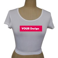 Factory Personalized Women Quality Sexy Crop Top T shirt