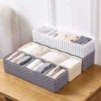 Storage Basket Wardrobe Organizer Women Men Storage Box For Socks Underwear Plastic Container Makeup Organizer