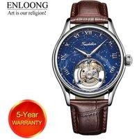 ENLOONG Real Tourbillon Luxury Mens Watch with Flying Tourbillon Movement Sapphire Mechanical man wrist watch oem watch luxury