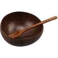 100% Natural Handmade Original Coconut Bowl and Wooden Rosewood Spoon Cereal Bowls Set Coconut Shells