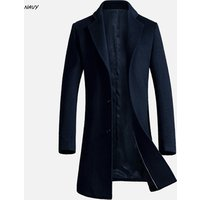 Autumn and Winter New Design  long Slim Fitness Mens Trench Coat