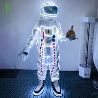 High Quality Christmas Carnival Halloween LED Lighting Space Suit For Masquerade Party Club Cosplay Luminous Astronaut Costume