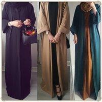 2019 Muslim Dress Kaftan Kimono Bangladesh Robe Musulmane Islamic Clothing Caftan Marocain Turkish UAE Eid Gift Part