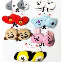 'Children Girls Plush Doll Heads Kpop Bt21 Hair Jewelry Hairband