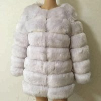 Factory supply super warm women winter faux fur coat with sleeves