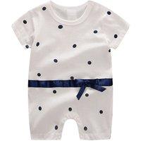 Baby Clothes 2018 New Fashion Cotton Short Sleeve Dot printandBear Print Infant Jumpsuits Clothing