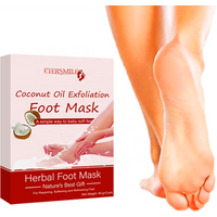 Private label Coconut Oil Exfoliation Foot Mask Foot Peel Mask